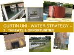 curtin uni water strategy 2 threats opportunities