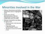 minorities involved in the war