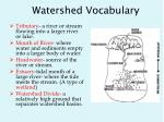 watershed vocabulary