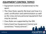 equipment control topics
