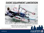 event equipment limitation1