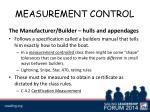 measurement control