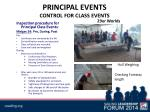 principal events control for class events