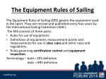 the equipment rules of sailing