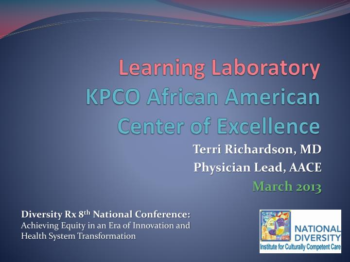 learning laboratory kpco african american center of excellence n.