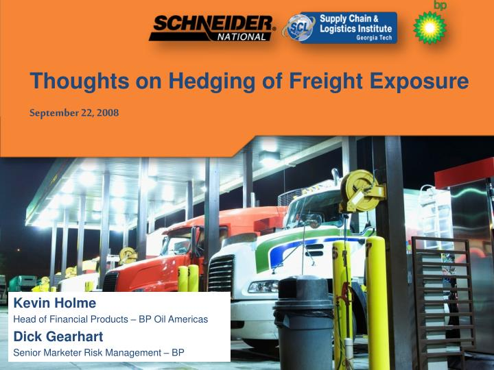 thoughts on hedging of freight exposure september 22 2008 n.