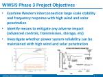 wwsis phase 3 project objectives