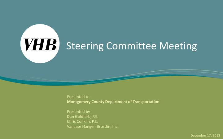 steering committee meeting n.