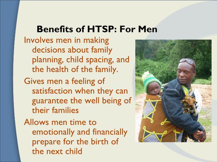 Benefits of HTSP: For Men