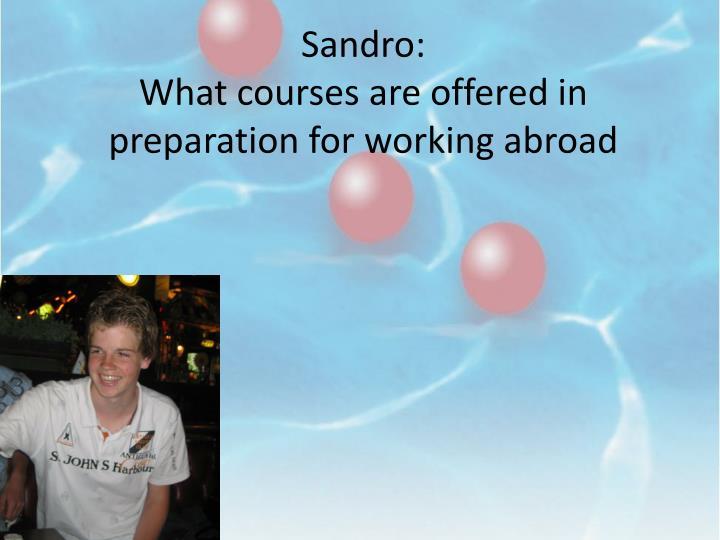 Sandro: