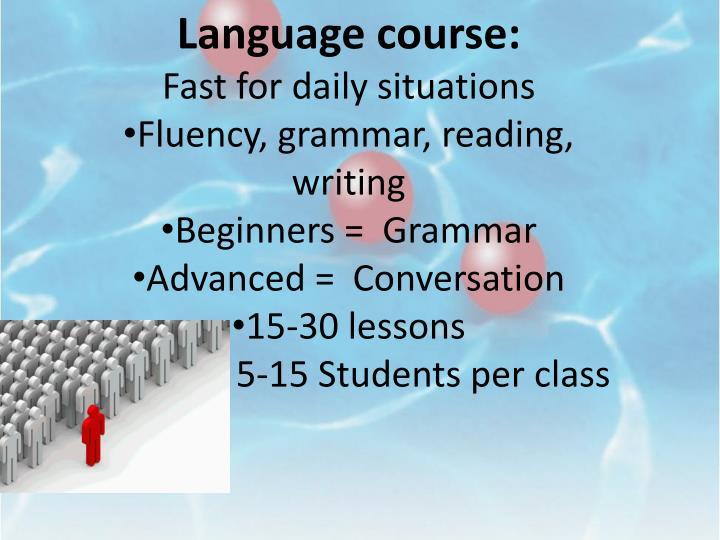 Language course:
