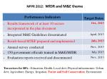 nppr 2012 mfdr and m e theme