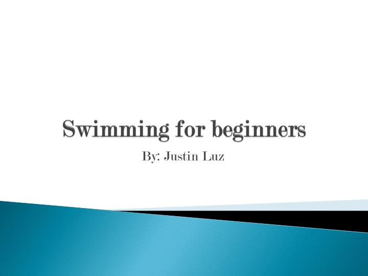 swimming for beginners n.