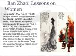 ban zhao lessons on women