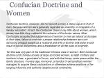 confucian doctrine and women
