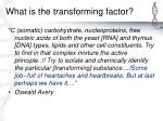 what is the transforming factor