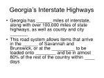 georgia s interstate highways