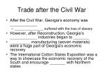 trade after the civil war