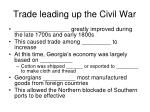 trade leading up the civil war