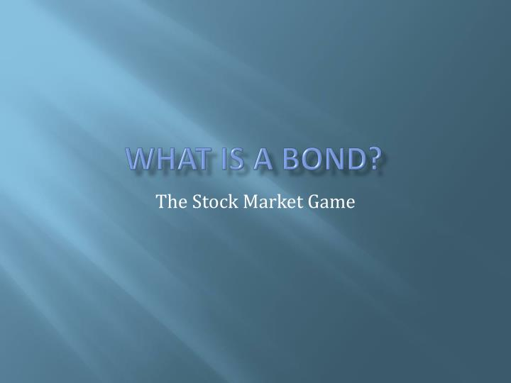 what is a bond n.