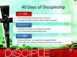 40 days of discipleship