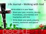life journal walking with god