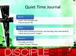 quiet time journal
