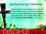 spiritual sharing fellowship