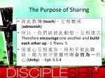 the purpose of sharing