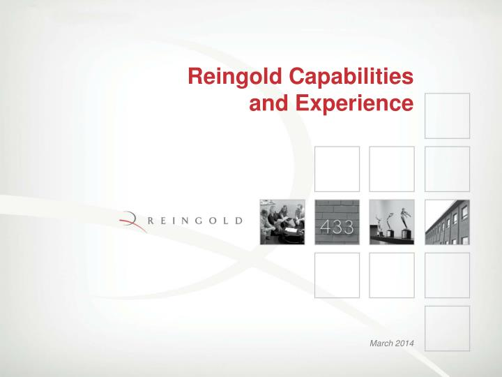 reingold capabilities and experience n.