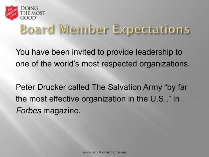 Board Member Expectations