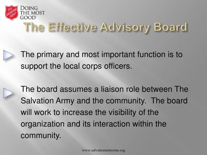 The Effective Advisory Board