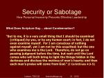 security or sabotage how personal insecurity prevents effective leadership14