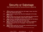 security or sabotage how personal insecurity prevents effective leadership2