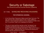 security or sabotage how personal insecurity prevents effective leadership34