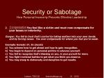 security or sabotage how personal insecurity prevents effective leadership7