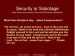 security or sabotage how personal insecurity prevents effective leadership8