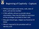 beginning of captivity capture