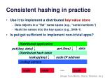 consistent hashing in practice