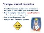 example mutual exclusion