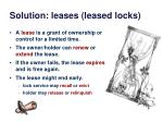 solution leases leased locks