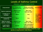 levels of asthma control assess patient impairment