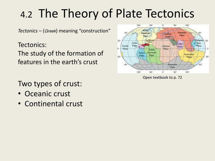 4 2 the theory of plate tectonics