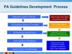 pa guidelines development process