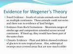 evidence for wegener s theory
