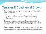 terranes continental growth