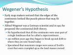 wegener s hypothesis