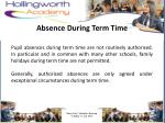 absence during term time