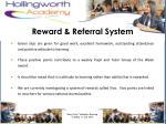 reward referral system