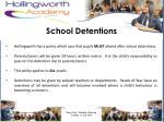 school detentions